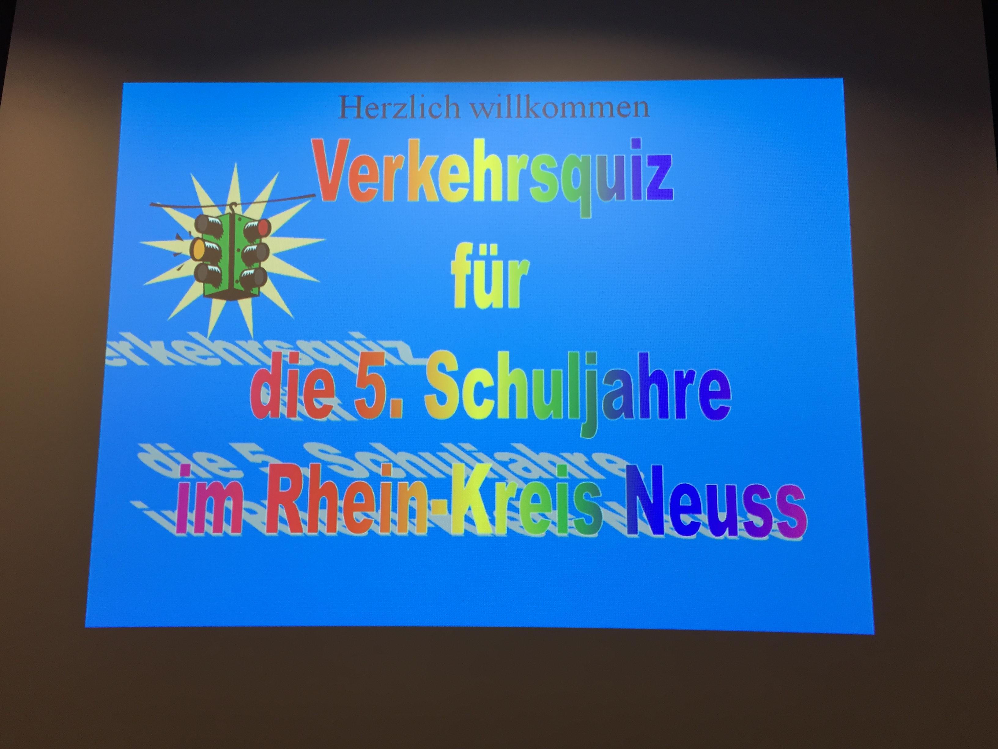 Verkehrsquiz für die 5. Schuljahre im Rhein-Kreis Neuss