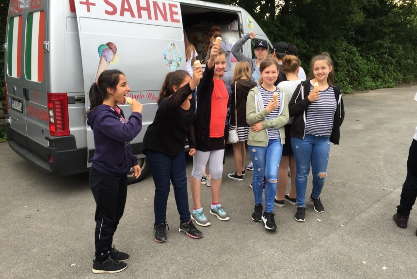 Eiswagen an der Comenius-Schule